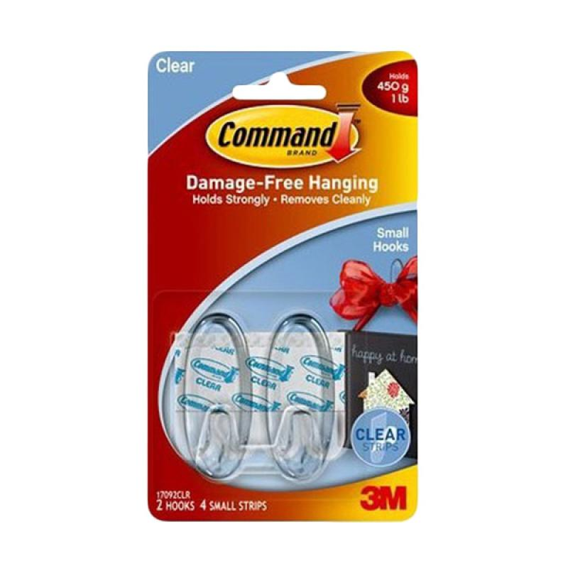 3M 17092CLR Command Hooks Strips - Clear [Small]