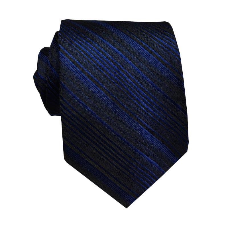 VM Fashion Slim Polos Garis Dasi - Navy Blue