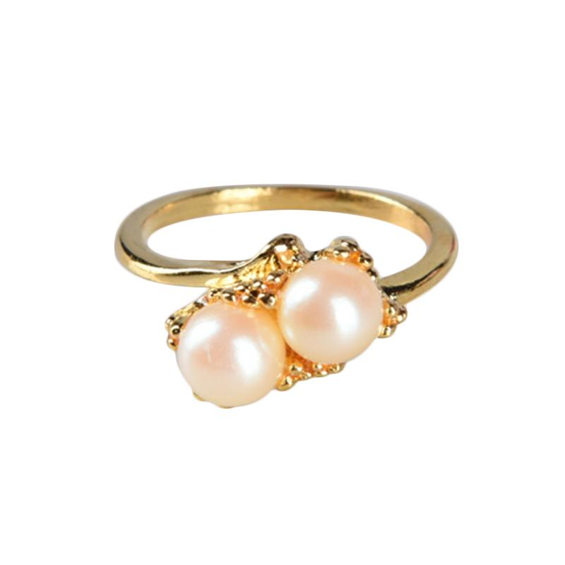 1901 Jewelry Two Pearl CC.151.HR9 Cincin - Gold