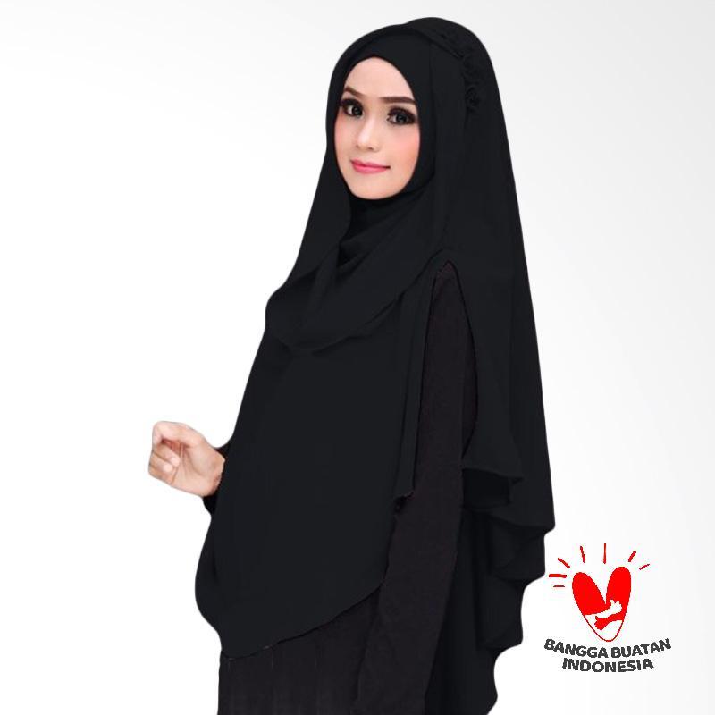 Milyarda Hijab Khimar Al Zaina Kerudung Jilbab Instan Syar'i  - Hitam