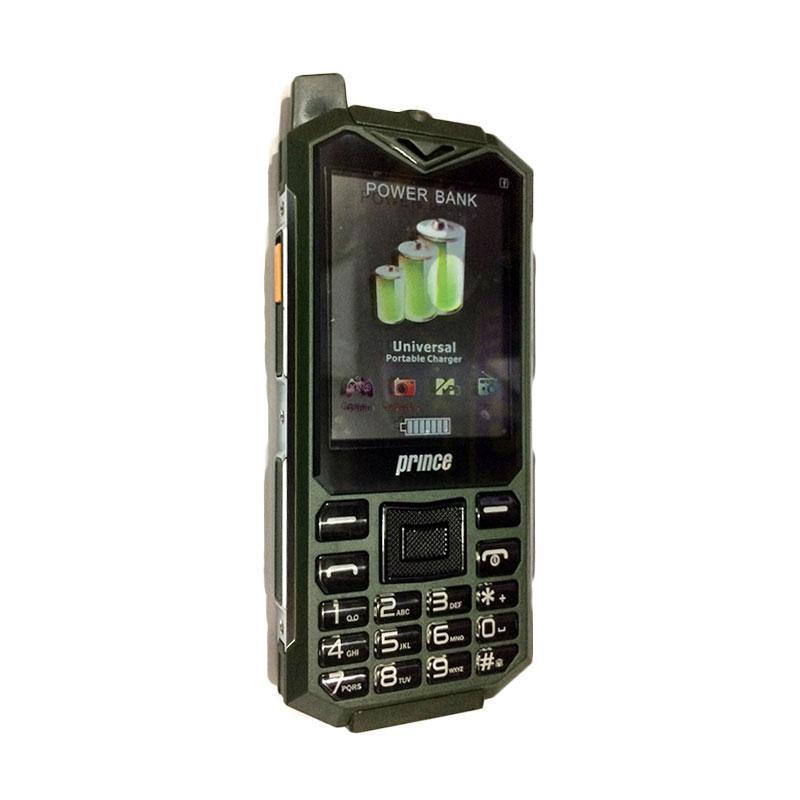 Prince PC-128 Powerbank Handphone - Green [6.000 mAh]