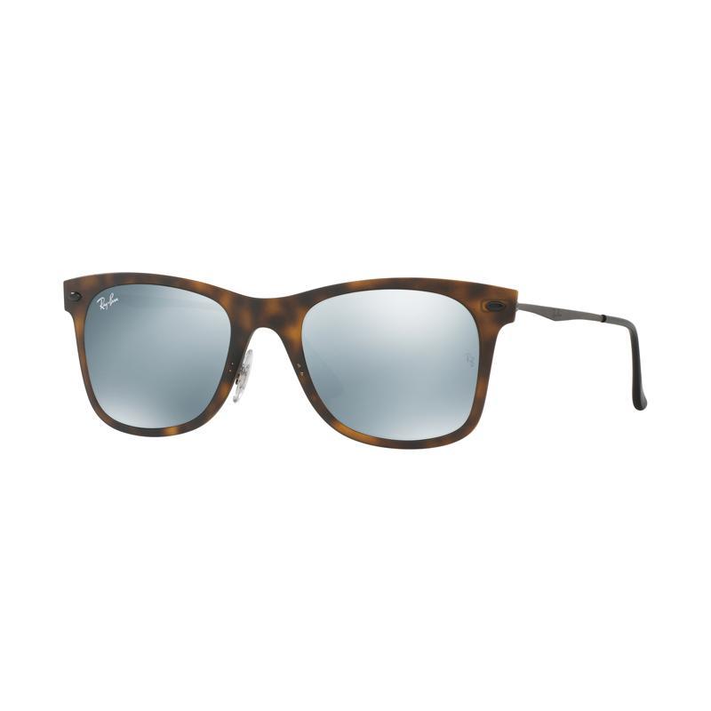 Ray-Ban Rb4210 Matte Havana 624430 Kacamata - Grey Flash [Size 50]
