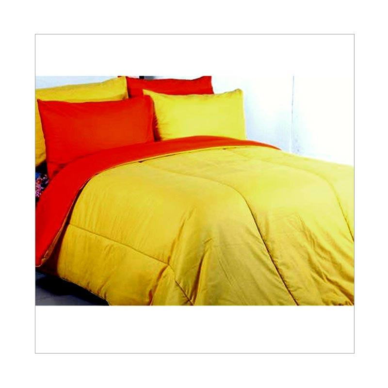 Ellenov Set Sprei dan Bedcover - Kuning Orange