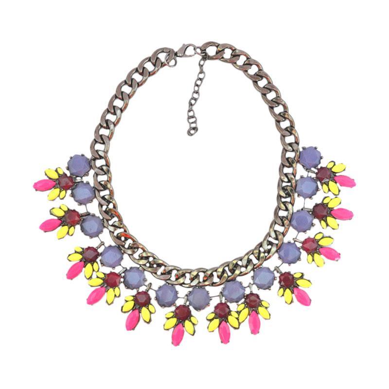 Momy Ribbon Candice Necklace - Violet