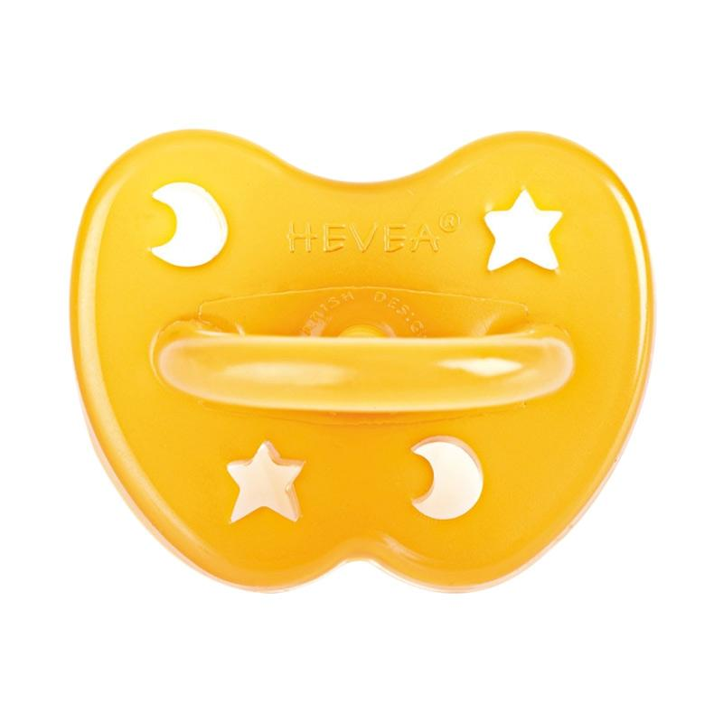 Hevea Natural Rubber Star & Moon Pacifier 0-3m Dot Bayi