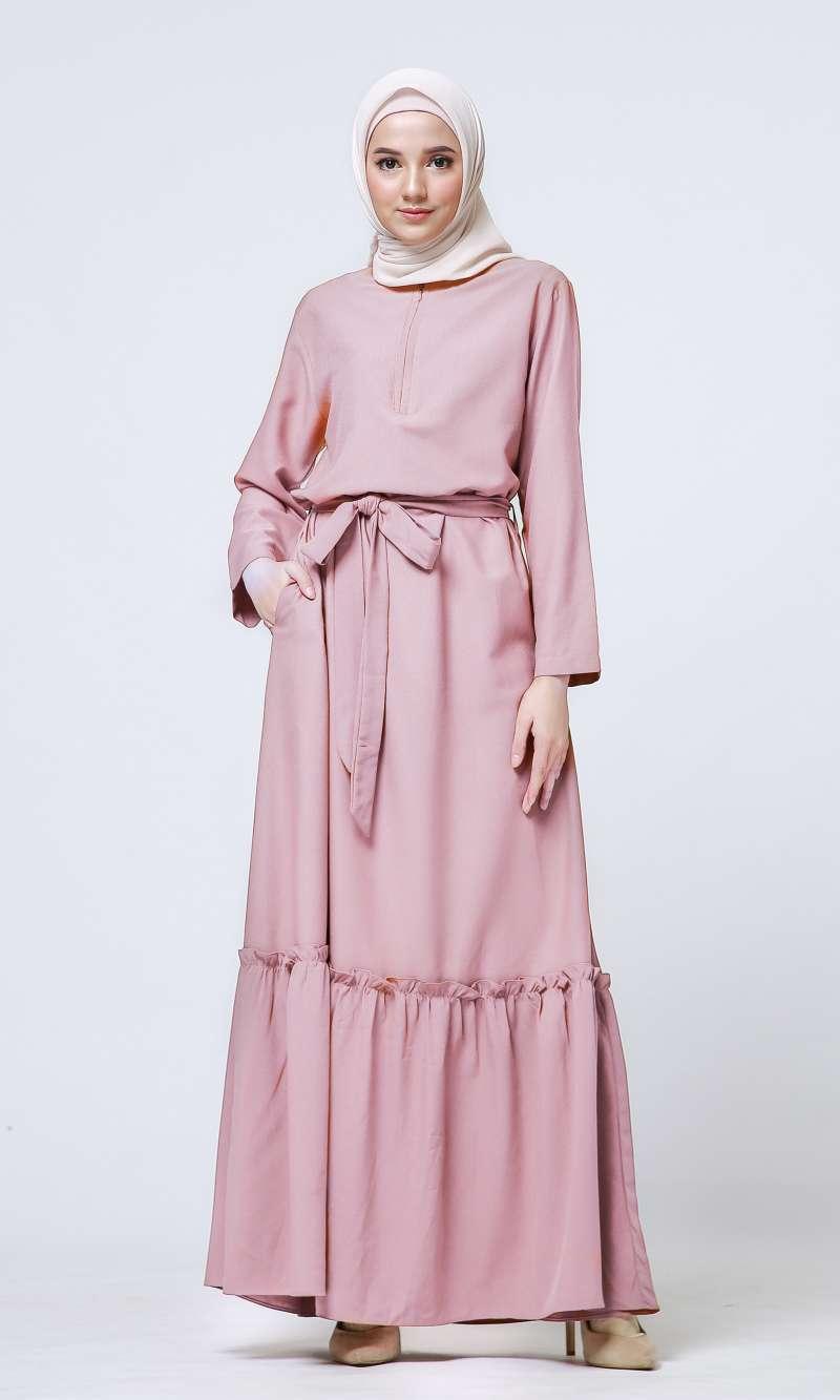 Jual Tufine Gamis Wanita Gamis Kekinian Caliana Dress Baby Pink Online Februari 2021 Blibli