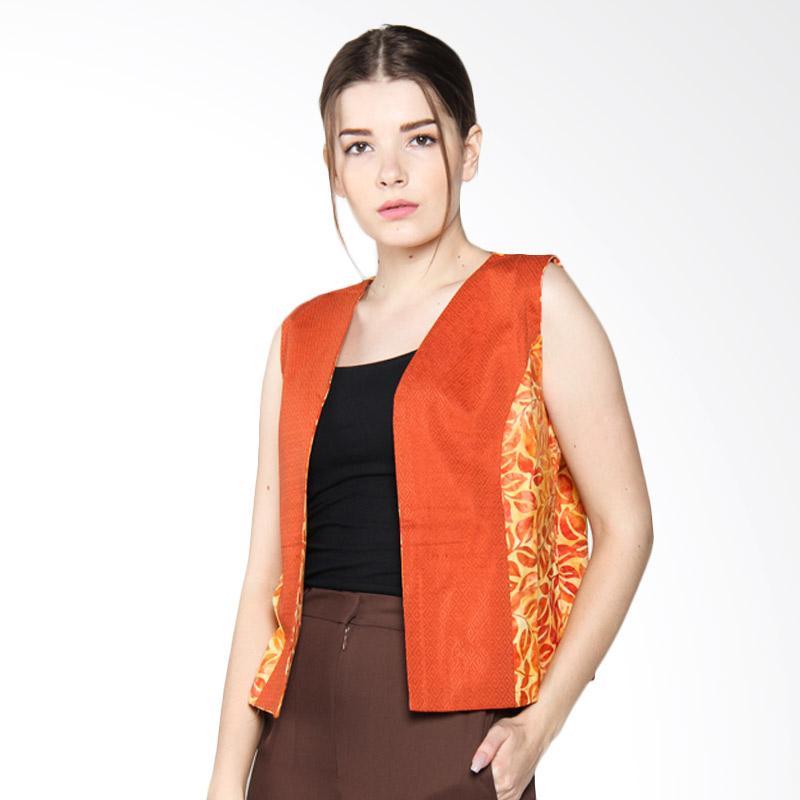Debra Lunn Cap V Tropical Vine DLWVS0105 Vest Batik Wanita - Orange