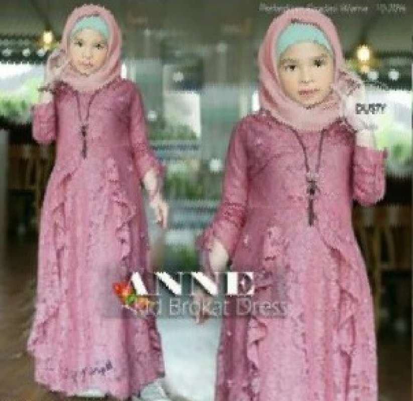 Jual Gamis Anak Brokat Mutiara Anne Maxi Dress Panjang Fashion Muslimah Vianne Kid Cewek Brukat Pearl Online Februari 2021 Blibli