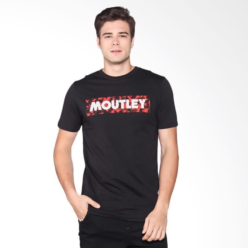 Moutley Tshirt Pria - Black 355051712