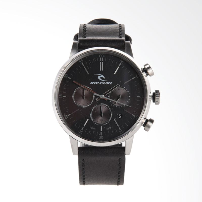 Rip Curl Drake Chrono Leather Jam Tangan Pria - Black [A2907 90]