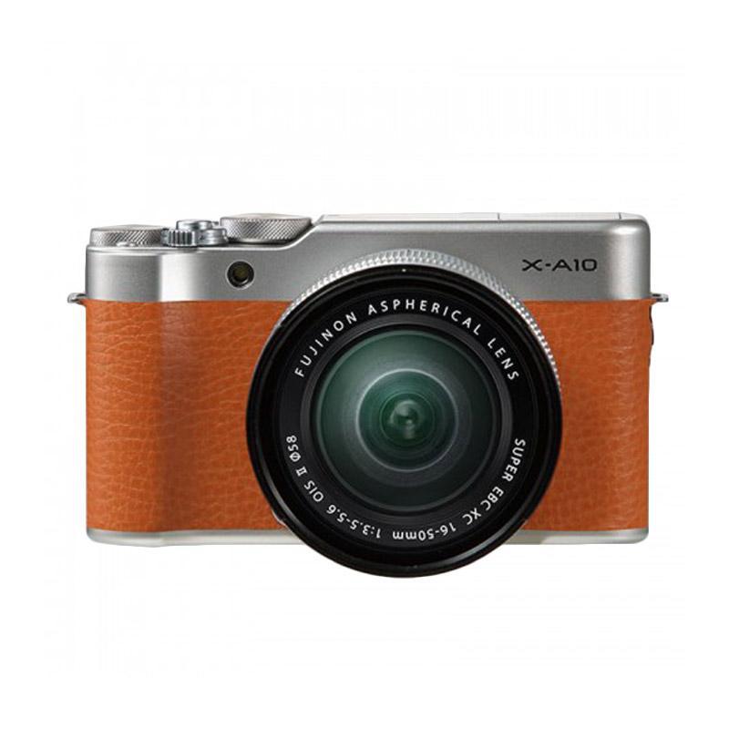 Fujifilm X-A10 Kit 16-50mm Kamera Mirrorless - Brown + 16 GB RESMI PT FUJIFILM INDONESIA