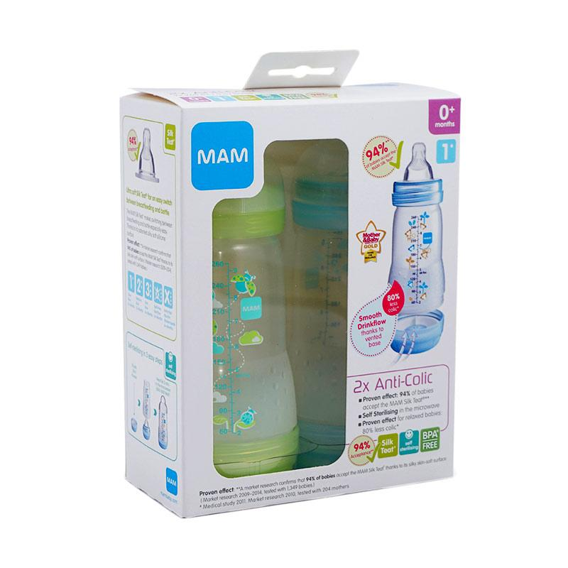 MAM Set Botol Susu Twin Pack [160 mL]