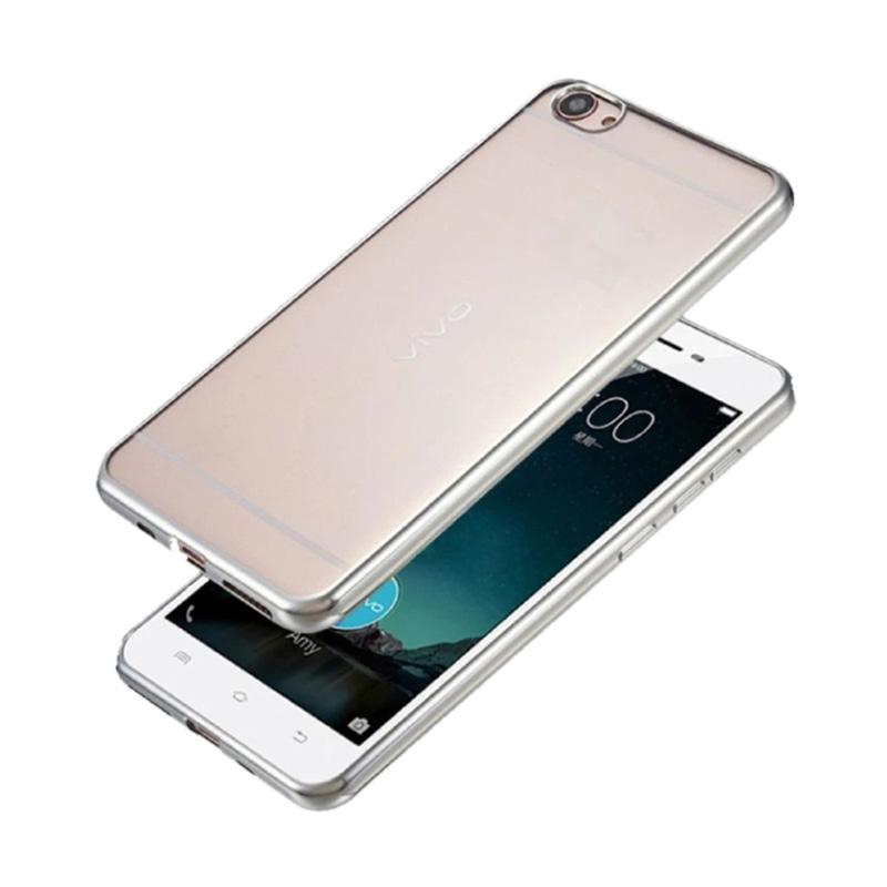 Jual Motomo Shining Chrome Jellycase Silicone Softcase Casing for Oppo A39 or A57 - Silver Online