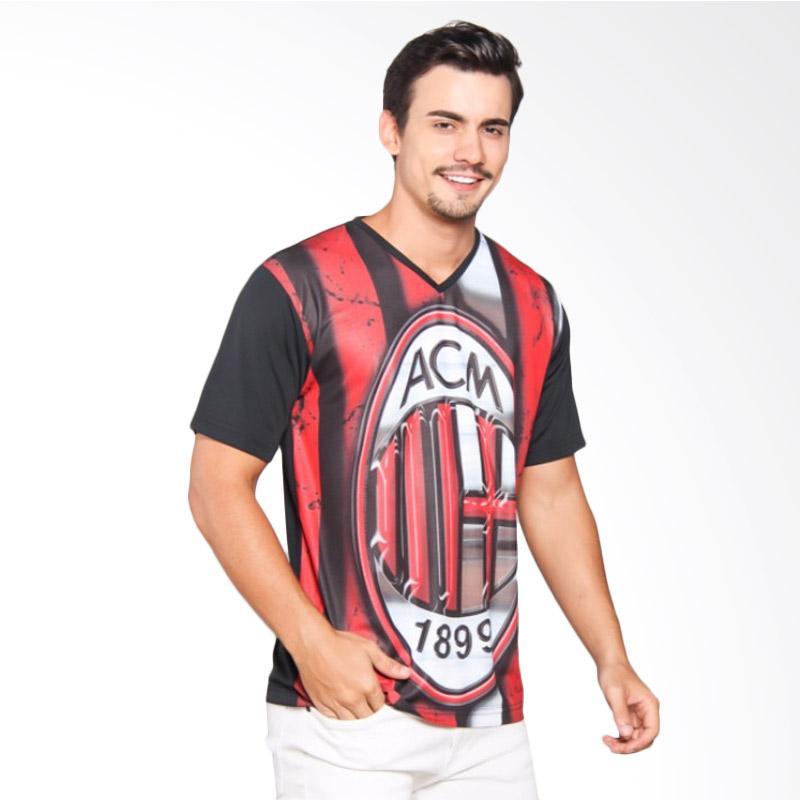 EpicMomo AC Milan1 T-Shirt Pria - Black [AD.00102]