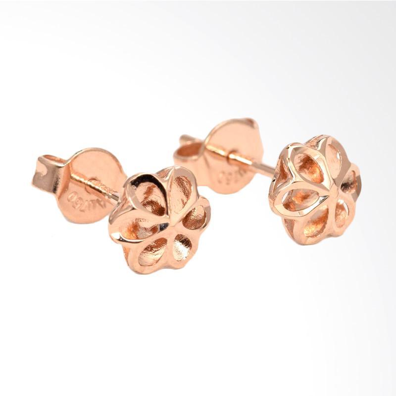 Tiaria Flower Earring Anting Emas Perhiasan - Rose Gold