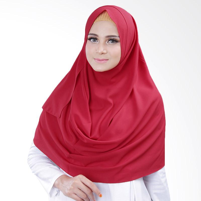 Cantik Kerudung Bella 2 Face Hijab Instant - Red No.6