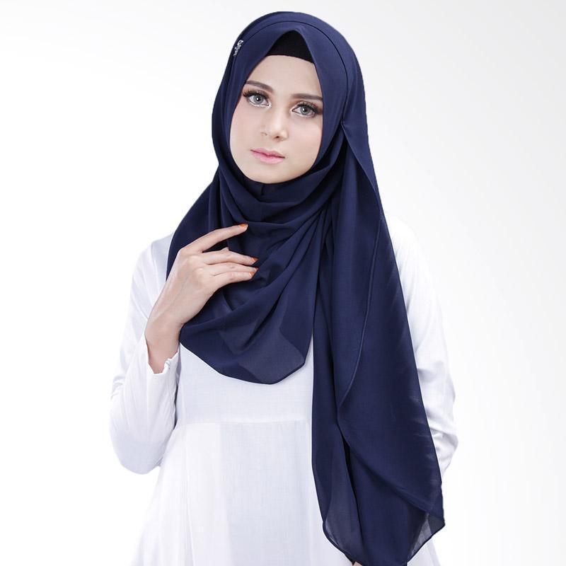 Cantik kerudung Bella Queen Hijab Instant - Navy Blue No.19
