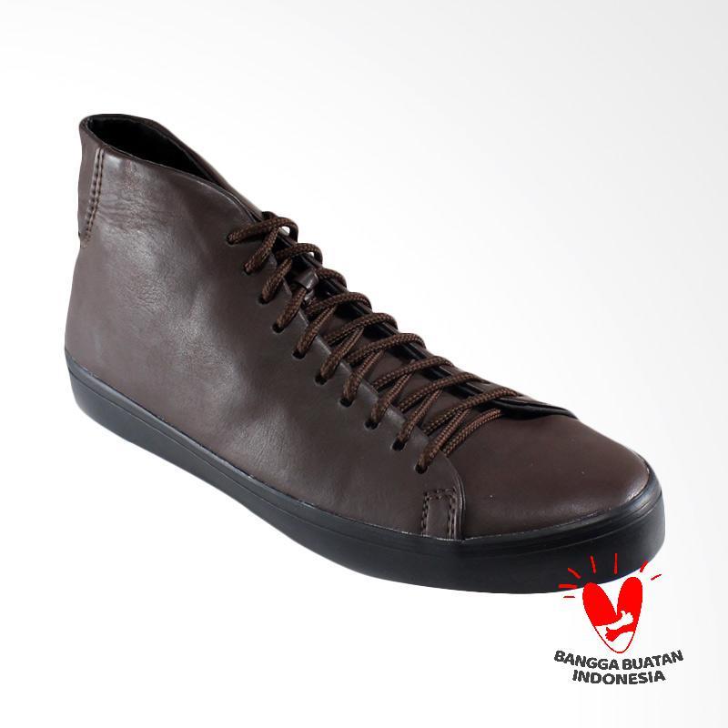 Dane and Dine Bleko High Sepatu Pria - Coklat