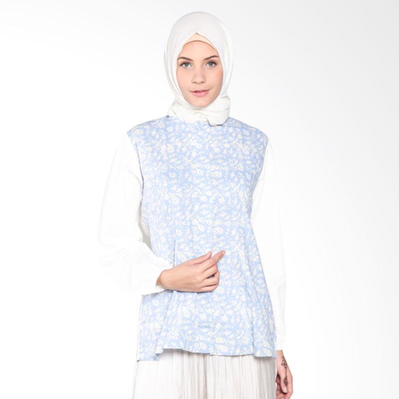 Rauza Rauza Ayana Batik Top Atasan Muslim Wanita - Biru