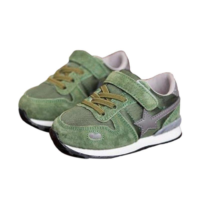 harga Sport Sepatu Kets Star Anak Laki-Laki - Hijau Army Blibli.com