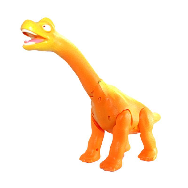 Enandem Mainan Edukasi Anak Dinosaurus Bergerak dan Bersuara - Orange