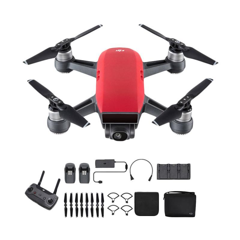 harga DJI Spark Fly More Combo Drone Camera - Lava Red - Ladang Blibli.com