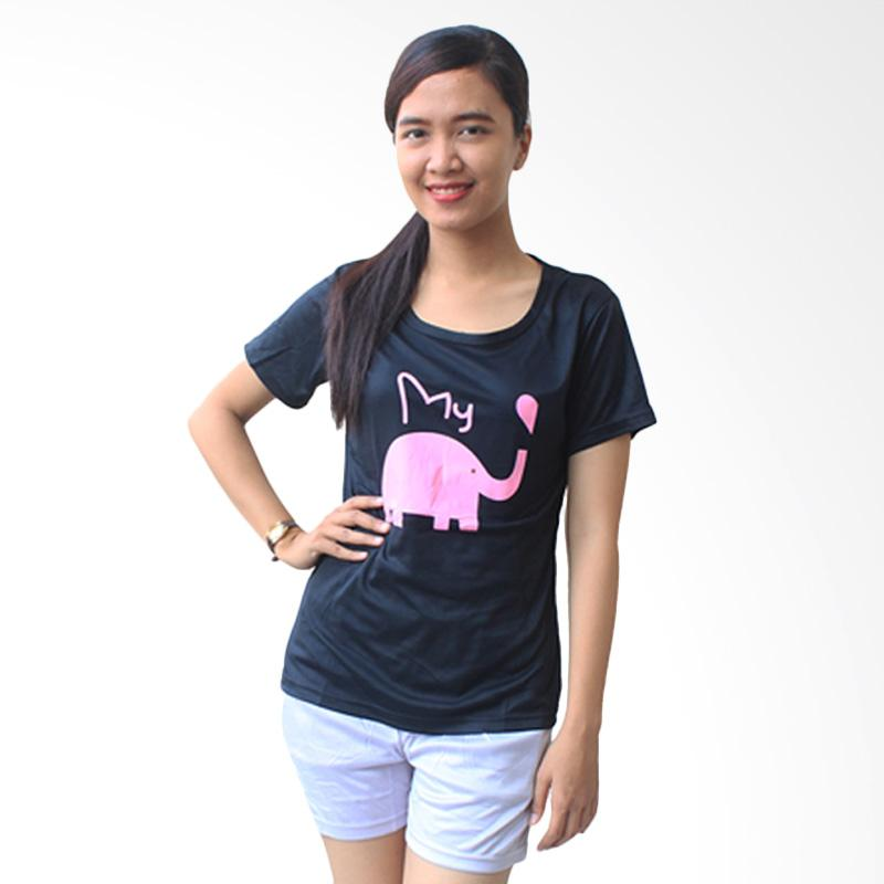 Aily SL023 Setelan Baju Tidur Celana Pendek Wanita - Hitam