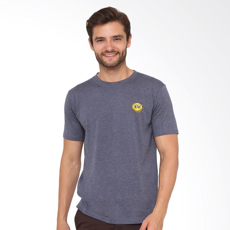 17SEVEN Original Tees Smile T-shirt Pria - Navy