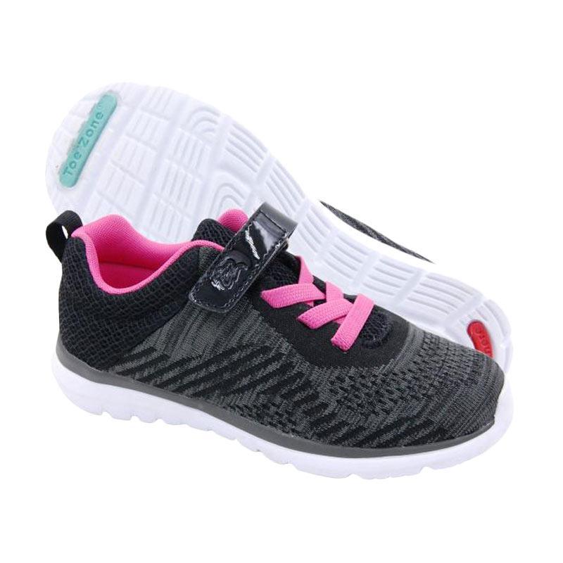 Toezone Kids Terra Yt Kids Sneaker Shoes - Black Flora