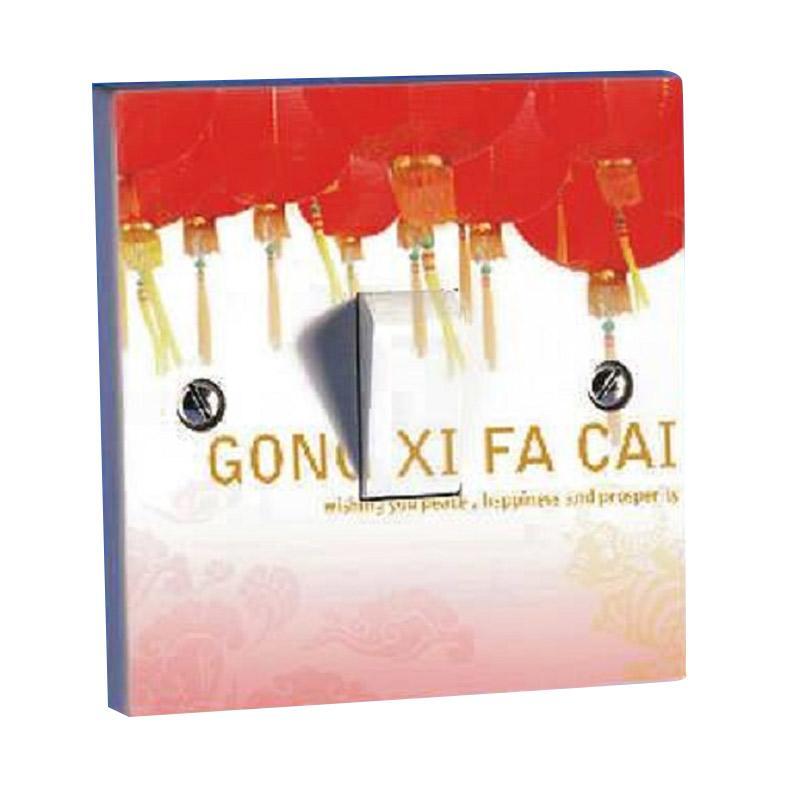 OEM Motif Imlek Gong Xi Fa Cai2 Saklar Lampu Sticker