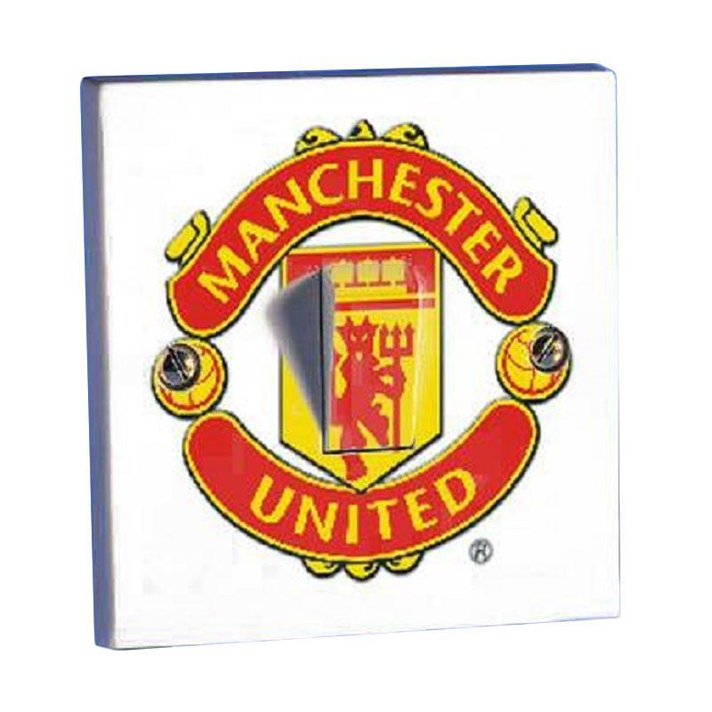 OEM Motif Manchester United Saklar Lampu Sticker