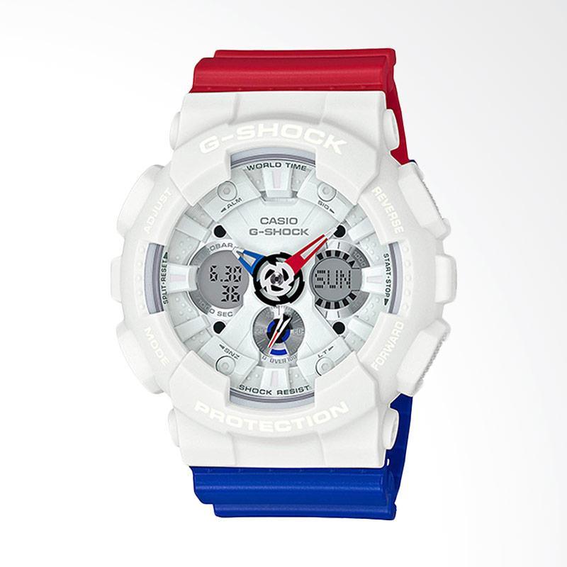 CASIO G-Shock Jam Tangan Pria - Blue White Red GA-120TRM-7ADR