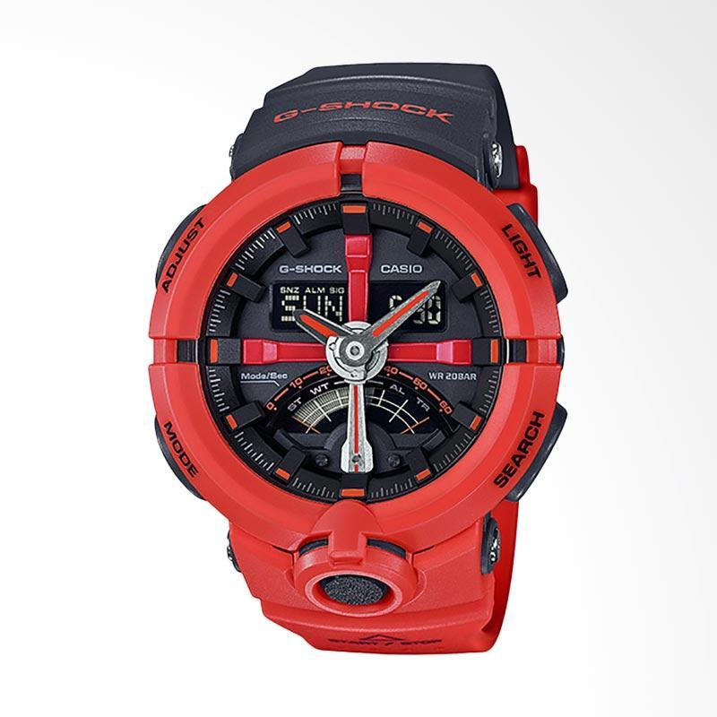 Casio G-Shock Jam Tangan Pria - Black Red GA-500P-4ADR