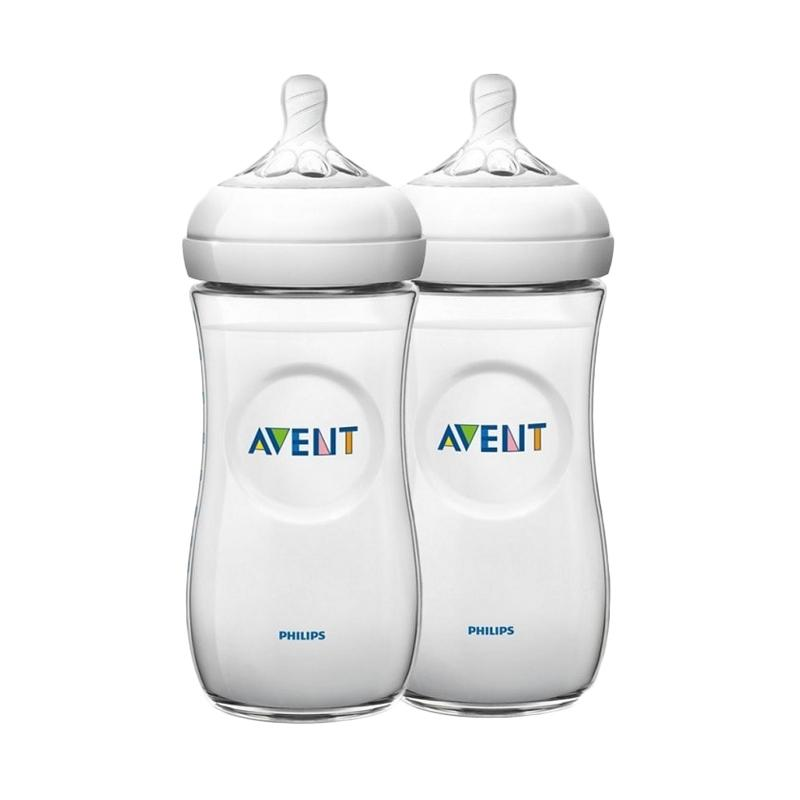 Philips Avent Natural Feeding 1m+ Baby Bottle - Putih [260 mL/Twin Pack]