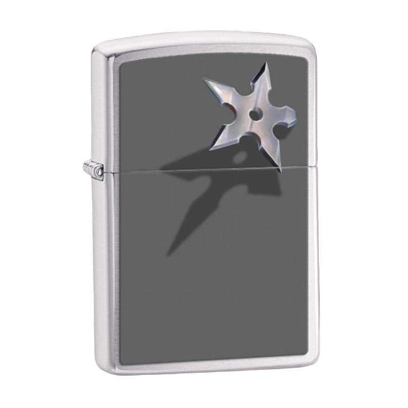 Zippo Lighter BS Star, Brushed Chrome