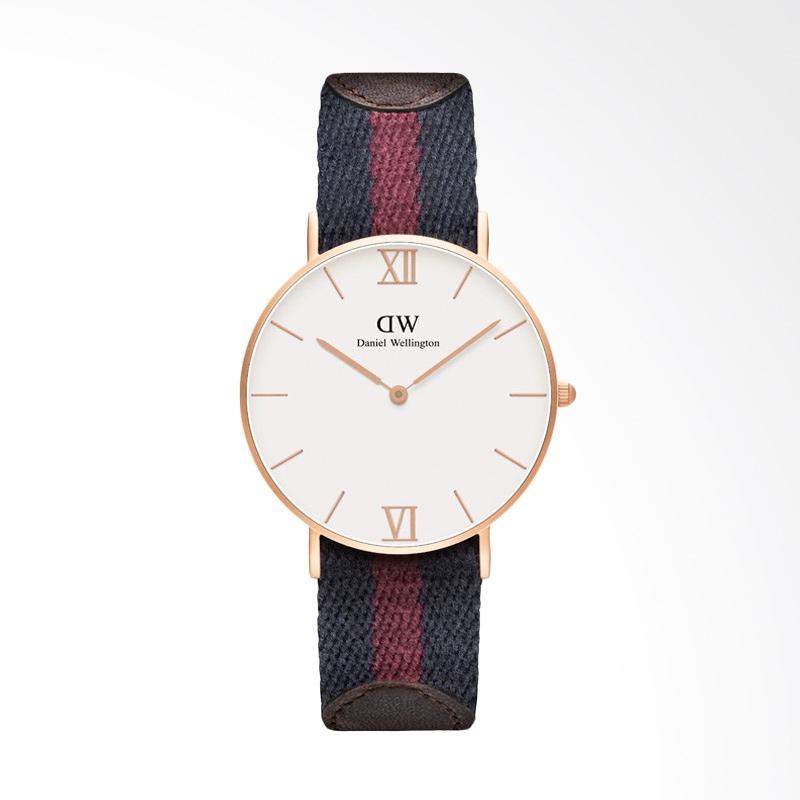 Daniel Wellington 0551DW Analog Display Japanese Quartz Multi Color Watch Jam Tangan Unisex