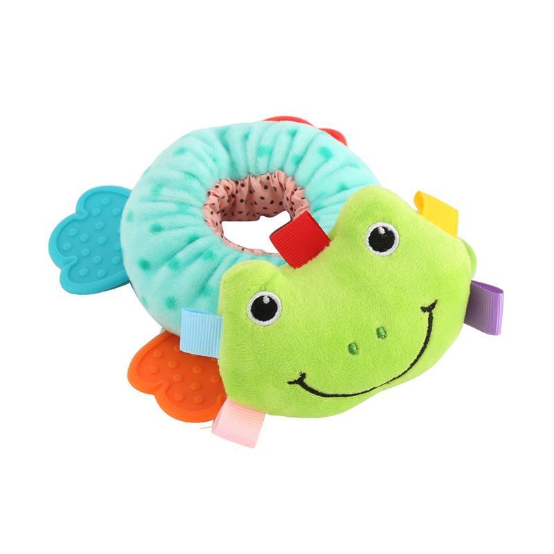 Chloebaby Shop S280 Frog Rattle Mainan Boneka - Multicolor