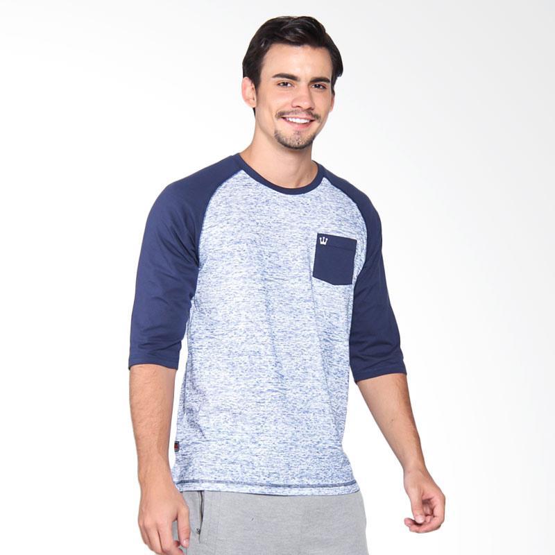 3Second 3509 Tshirt Pria - Blue 135091712