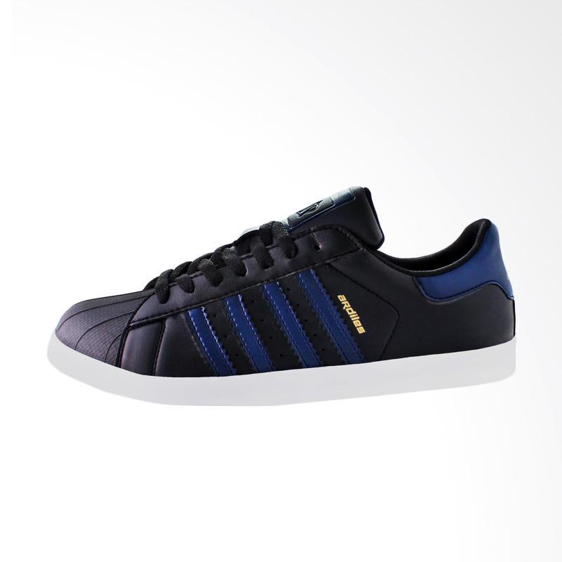 harga Ardiles Men Dominic Sneakers Shoes Pria - Black Blue Blibli.com