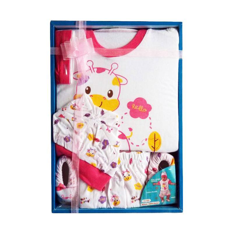 Kiddy 11157 Funny Giraffe Baby Gift Set Pakaian Bayi - Pink