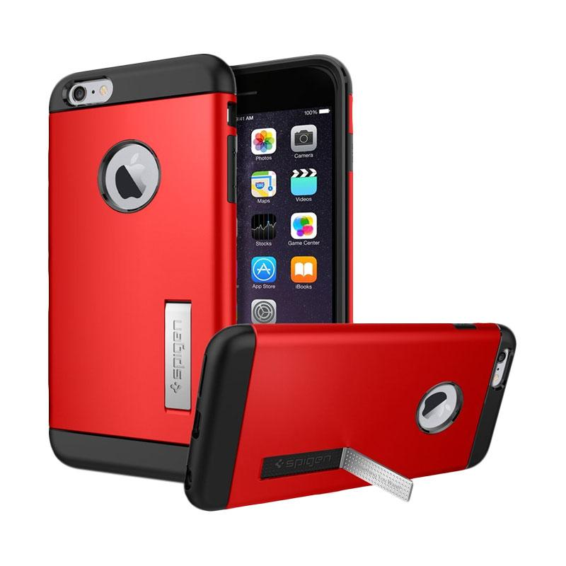 Spigen Slim Armor Casing for iPhone 6 Plus 5.5 Inch - Electric Red [Retail Packaging]