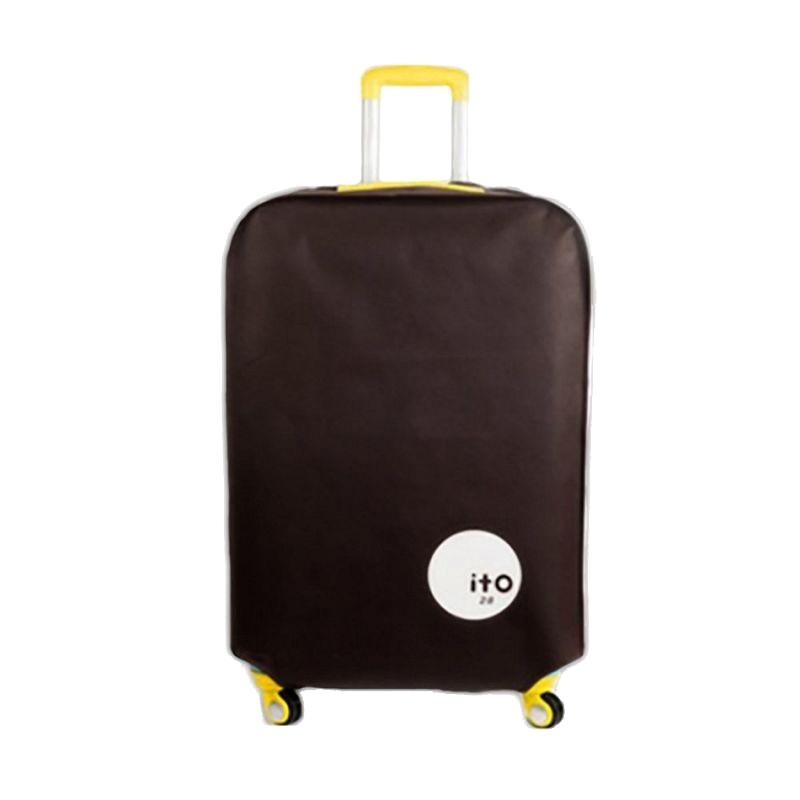 ITO Luggage Cover Pelindung Koper - Brown [24 Inch]