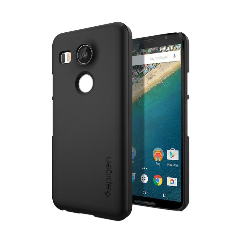 Spigen Thin Fit with Premium Matte Finish Coating Casing for Nexus 5x - Black