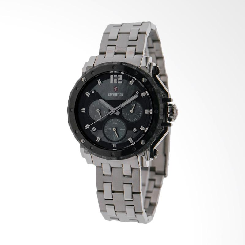 Expedition EXF-6402-BFBTBBA Mother Of Pearl Dial Stainless Steel Jam Tangan Unisex - Silver