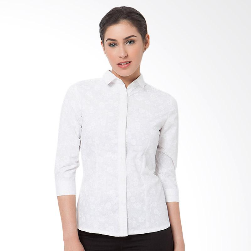 A&D Fashion 3/4 Sleeve MS 665A Blouse - White