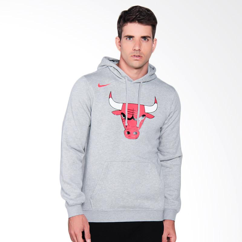 NIKE Men Basketball Chicago Bulls Hoodie PO FLC Club LO Sweater