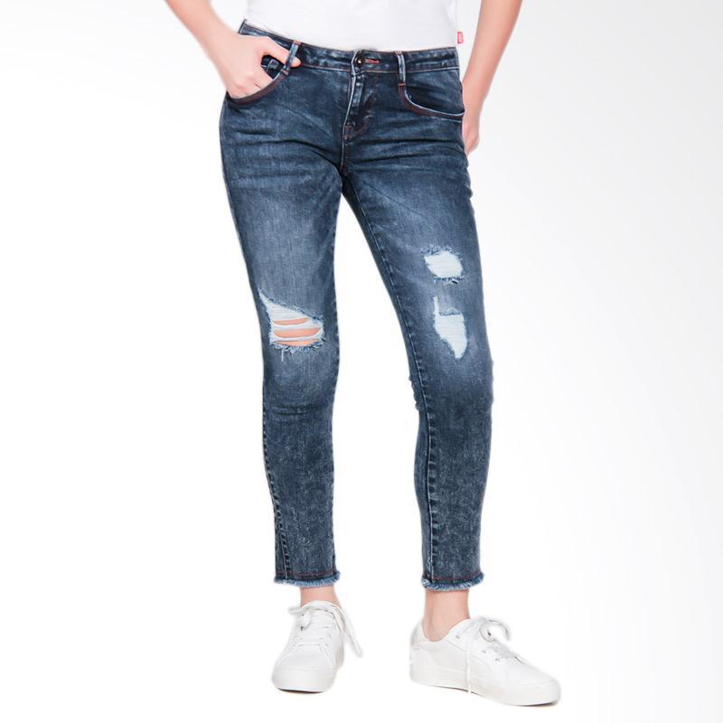 3 Second Ladies Girls 0610 105101723BR Pants Celana Wanita - Blue