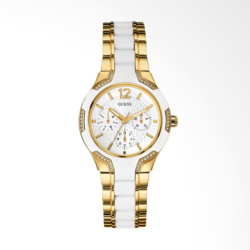 harga Guess U0556L2 Women Sporty White Dial Gold-tone Stainless Steel Multi-Function Watch Jam Tangan Wanita Blibli.com