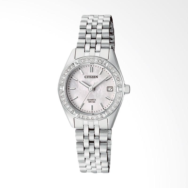 harga Citizen EU6060-55D Elegant Mother Of Pearl Dial Jam Tangan Wanita - Silver Blibli.com
