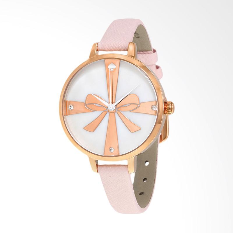 Kate Spade 1YRU0879 Metro Leather Strap Watch Jam Tangan Wanita - White Pink